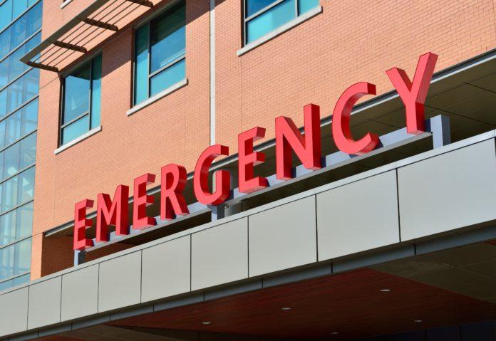 An emergency room entrance.