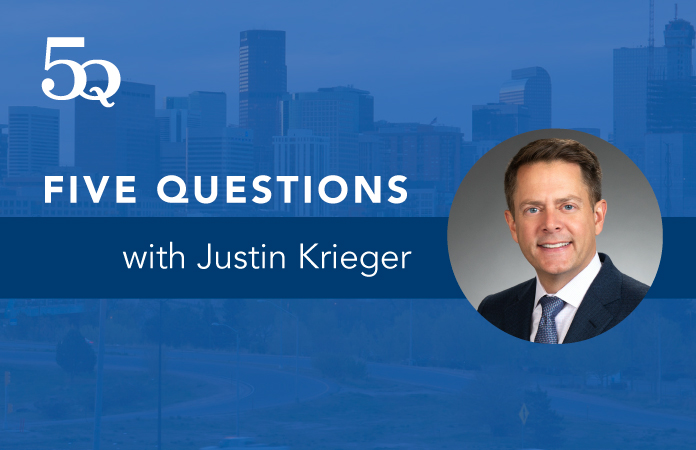 Five questions with Justin Krieger