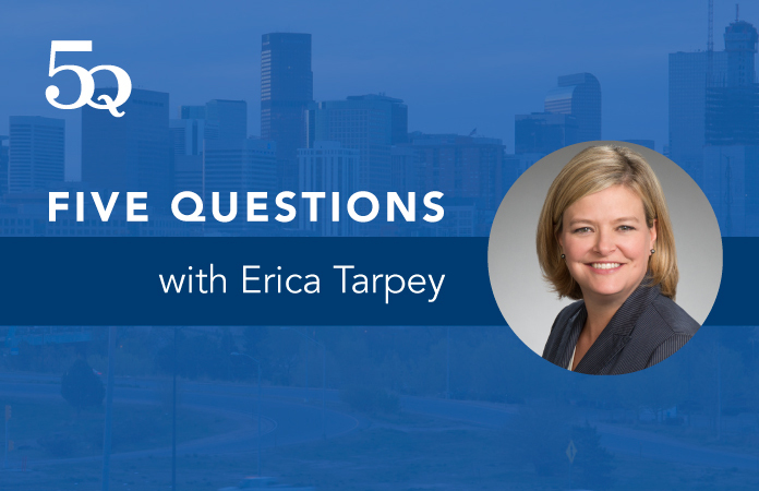 Five questions with Erica Tarpey