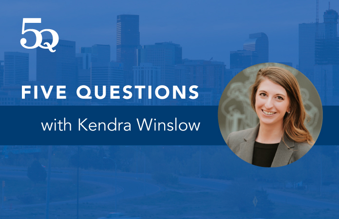 5 questions with Kendra Winslow